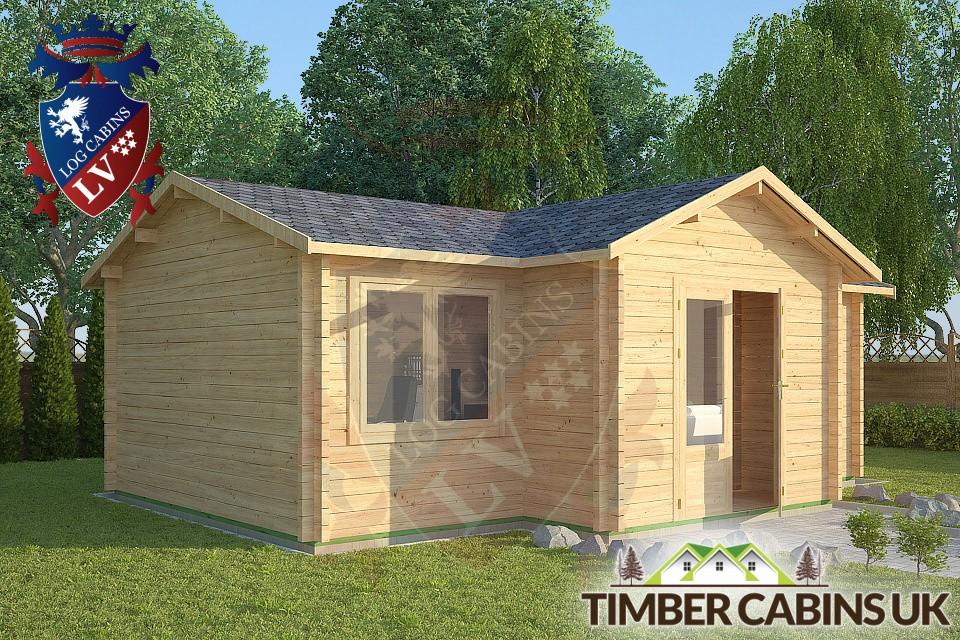 Log Cabins Bespoke Timber Log Cabin Up Holland 7m X 5m