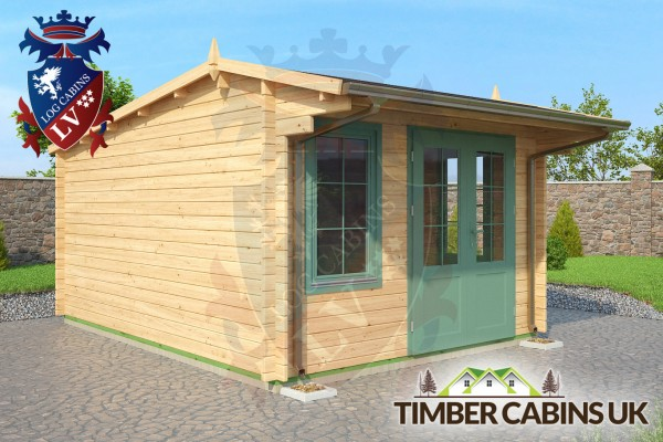 Log Cabin Bridgend 3.5m x 4.5m 001