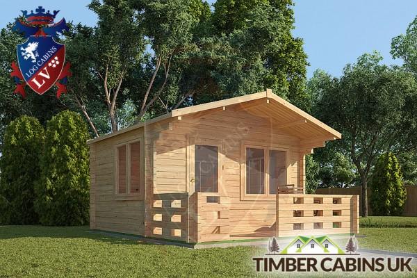 Log Cabin Bath 4m x 3m 001