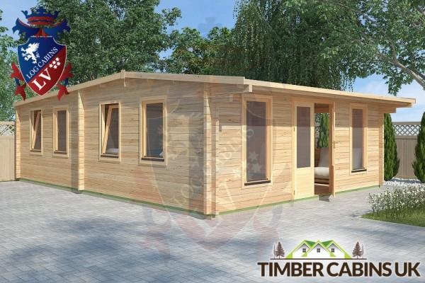 Log Cabin Conway 5.8m x 8m 001