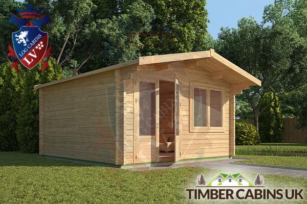 Log Cabin Huntingdonshire 4m x 4m 001