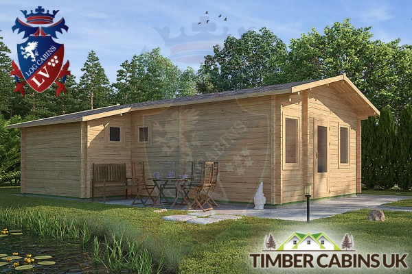 Log Cabin West Wiltshire 6.4 x 7.6m 001