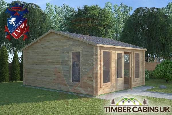 Log Cabin Whitewell 4.5m x 5.5m 001