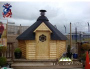 Timber Cabins UK - The Grill Log Cabin 9.2m2 001