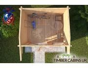 Log Cabin Wychavon 2.95m x 2.35m 004