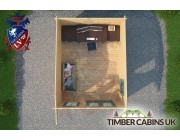 Log Cabin Bridgend 3.5m x 4.5m 004