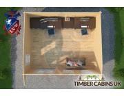 Log Cabin Warwick 5.5m x 4.5m 004