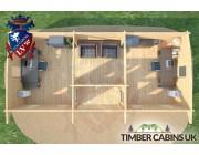 Log Cabin Aberdeenshire 9m x 4m 006