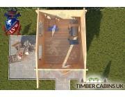 Log Cabin Ashfield 2.35m x 2.95m 004