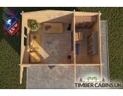 Log Cabin Basildon 4.5m x 3m 004