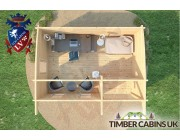 Log Cabin Belfast 5m x 3.5m 006