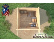 Log Cabin Birmingham 2.5m x 2.5m 005