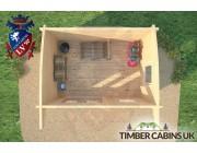 Log Cabin Bradford 3.5m x 2.5m 006