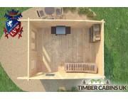 Log Cabin Bristol 3.5m x 4.5m 006