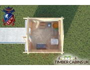 Log Cabin Burnley 2.5m x 2.5m 004