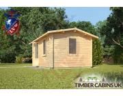 Log Cabin Caerphilly 4m x 3m 002