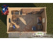 Log Cabin Caerphilly 4m x 3m 004