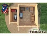 Log Cabin Cardiff 4.5m x 3.5m 006