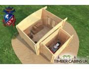 Log Cabin Cardiff 4.5m x 3.5m 005