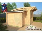 Log Cabin Cardiff 4.5m x 3.5m 002