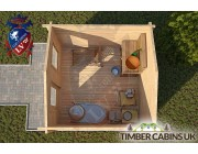 Log Cabin Charnwood 3m x 3m 004