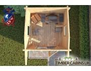 Log Cabin Cheltenham 2.35m x 2.35m 004