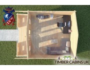 Log Cabin Cockerham 5m x 5m 004