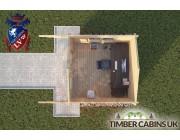 Log Cabin Colne 3m x 3m 004