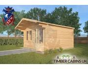 Log Cabin Downham 4m x 4m 002