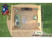 Log Cabin Dudley 4.5m x 4m 006