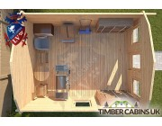 Log Cabin East Hampshire 3.5m x 4.5m 004