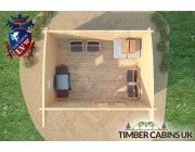 Log Cabin Fife 4m x 3m 007