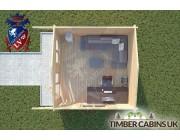 Log Cabin Gisburn 4m x 4m 004