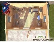 Log Cabin Gloucester 3.55m x 2.35m 004