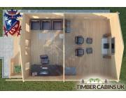 Log Cabin Halton 5m x 7m 004