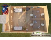 Log Cabin Hornby 5m x 7m 004