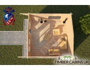 Log Cabin Huntingdonshire 4m x 4m 004