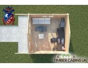 Log Cabin Hurst Green 4m x 4m 004