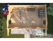 Log Cabin Lisburn 4.75m x 2.95m 004
