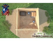 Log Cabin London 2.5m x 2.5m 005