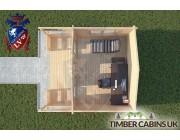 Log Cabin Lytham 4m x 3m 004