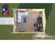 Log Cabin Mellor 4m x 5m 004