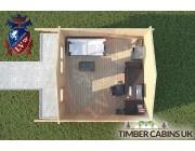Log Cabin Mitton 4m x 4m 004