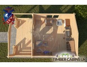 Log Cabin New Forest 4m x 6m 004