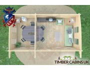 Log Cabin Newcastle-upon-Tyne 6.5m x 3.5m 007