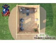 Log Cabin Northampton 3.5m x 4.5m 006