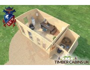 Log Cabin Nottingham 6.5m x 3.5m 006