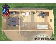 Log Cabin Oldham 9.5m x 4m 005