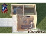 Log Cabin Ormskirk 5m x 4m 004