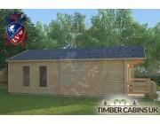 Log Cabin Overton 5m x 8m 001